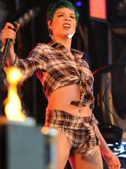 Halsey at the Bonnaroo Music and Arts Festival in Manchester,