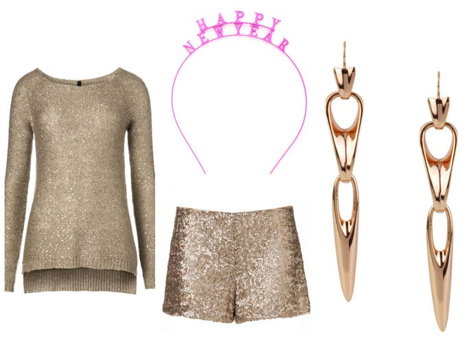 There's nothing wrong with resolving to be a little more stylish than you were the year before, and what better time to make good on that promise than New Year's Eve. USA TODAY's Arienne Thompson comes up with two looks that are festive and fashion-forward.