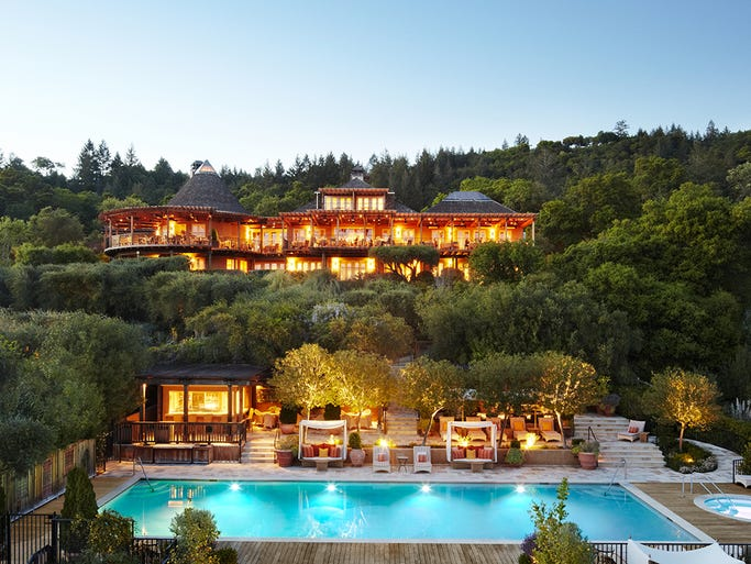 The Auberge du Soleil in Rutherford, Calif., is new to the Forbes list of Five-Star hotels.