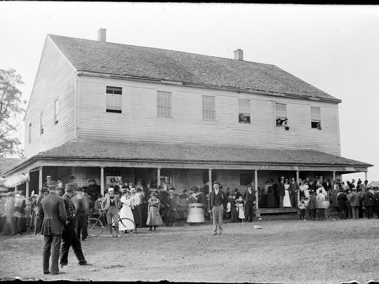 The Farmington Quaker Meetinghouse, circa 1890–1900, from a glass negative photograph taken by Farmington photographer Edwin J. Gardner.