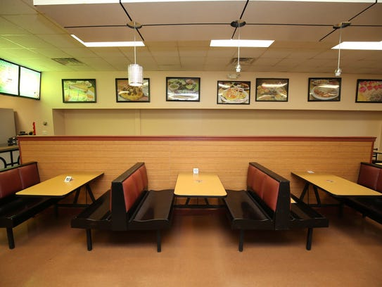 A view of the dining room at Leslie's Mexican Cafe & Bakery.