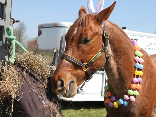 An Easter celebration at The Mill Saturday drew hundreds