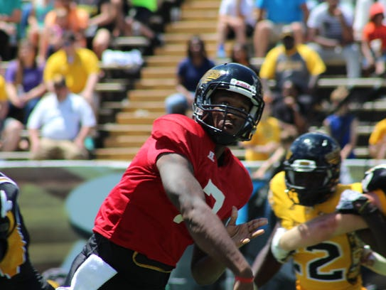 Southern Miss quarterback Kwadra Griggs is one of the