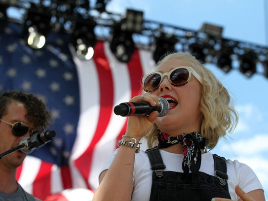 RaeLynn was one of several performers at Camp Nash
