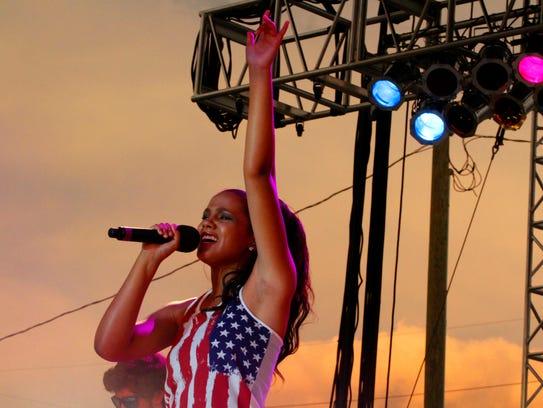 Hometown girl Tristan McIntosh delivered a patriotic