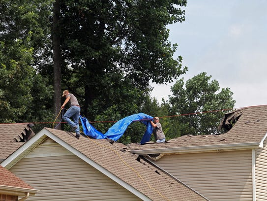 A home on Rafiki Drive suffered extensive damage when