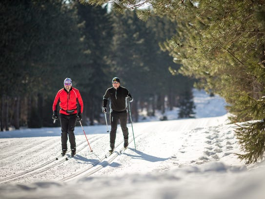 Nine Mile County Forest south of Wausau features 30 kilometers of well-groomed trails for cross-country skiing.