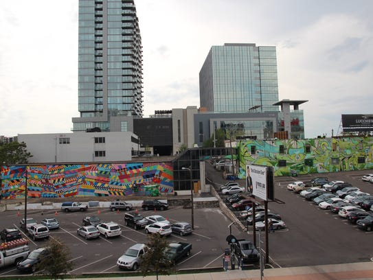 The completed murals in the Nashville Gulch along 11th