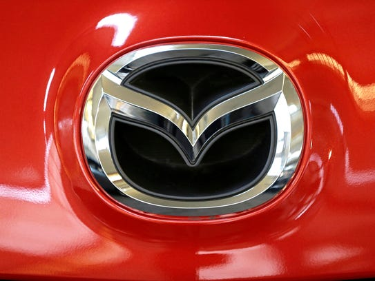 A Mazda logo