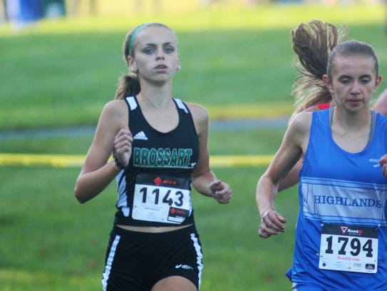 Highlands sophomore Maria Broering, right, and Bishop