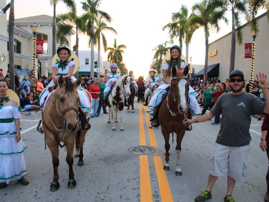 Horses and riders are always part of the Sights & Sounds