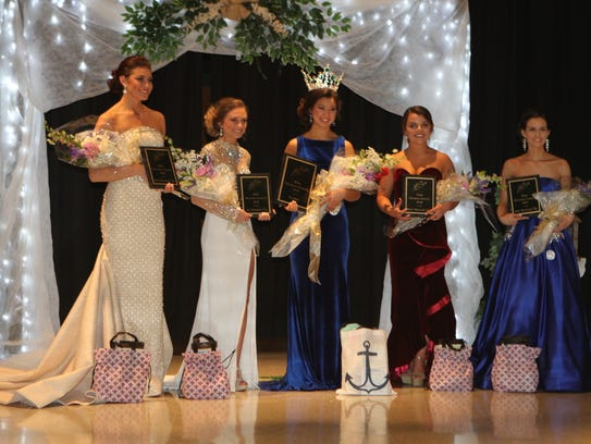 The 2018 Miss Houston County court is, from left, Hope