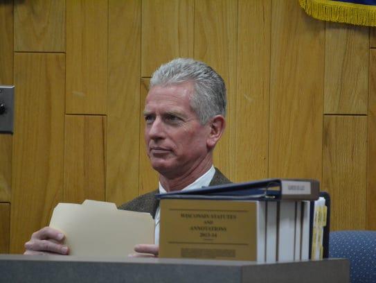Oconto City Attorney Frank Calvert, seen at a council