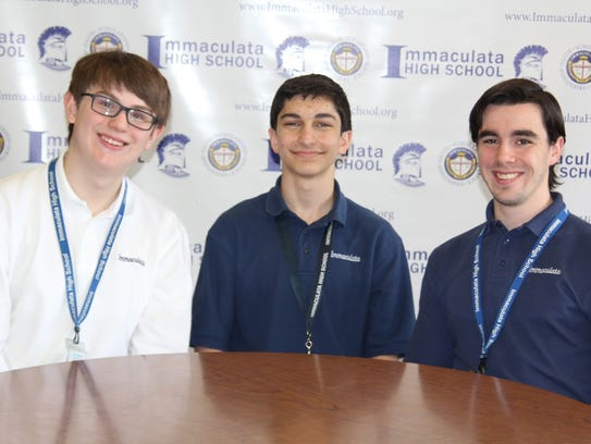 Joseph Sapone of Bridgewater (center) won first place