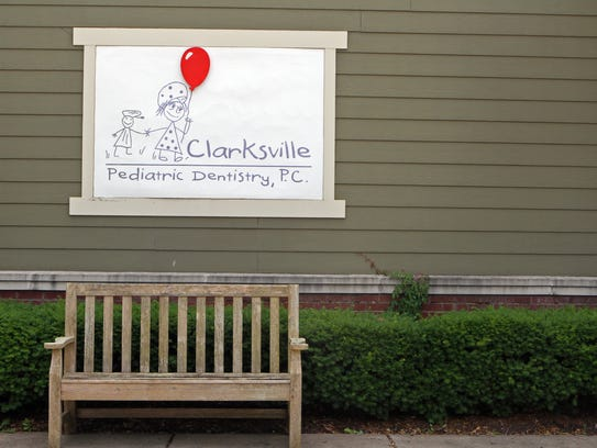 The sign outside welcomes patients to Dr. Jeannie Beauchamp's