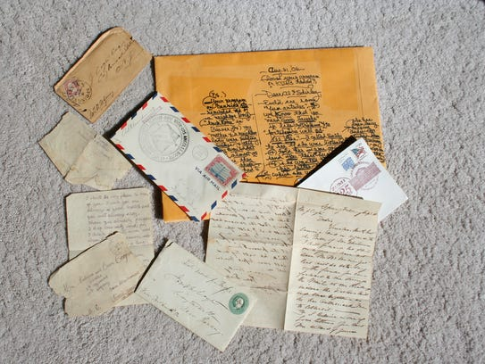 Shown from the author's collection are envelopes dated