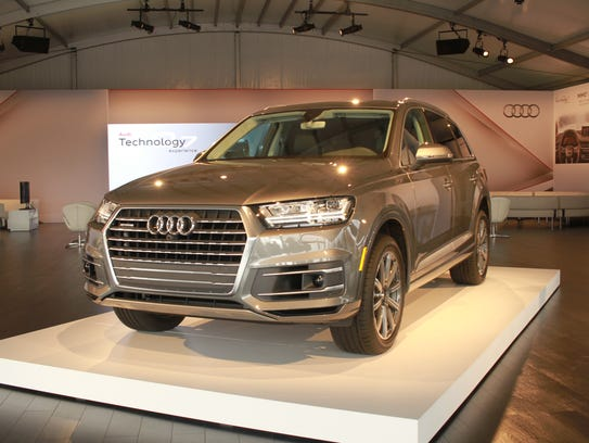 Audi showed off its 2017 Q7 SUV recently, which features