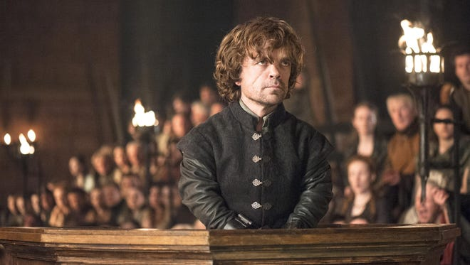 """This image released by HBO shows Peter Dinklage in a scene from """"Game of Thrones.""""  The series garnered 19 Emmy Award nominations on Thursday, July 10, 2014, including one for best drama series. (AP Photo/HBO, Helen Sloan)"""