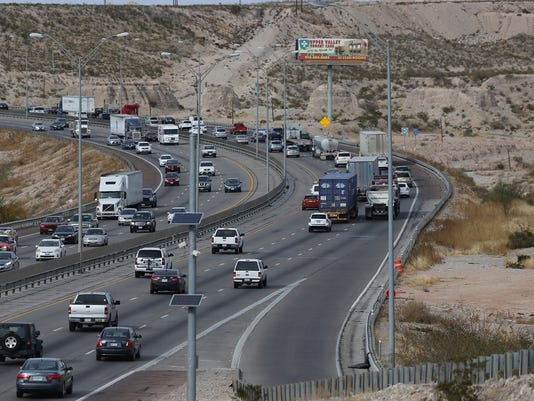 Traffic moves on I-10 between Executive Center and Sunland Park Drive.