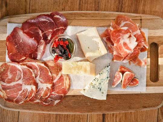 A meat-and-cheese plate from Lupo di Mare, one of Scott Kammerer's Delaware restaurants.