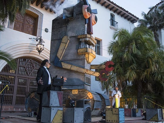 Public Art at the downtown Santa Barbara County Courthouse.