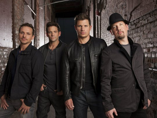 98 Degrees, from left: Drew Lachey, Jeff Timmons, Nick Lachey and Justin Jeffre.