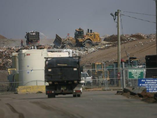 The Keegan Landfill is shown from Bergen Avenue in Kearny, on March 7, 2016.
