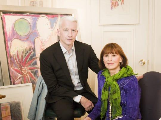 Anderson Cooper and his mother, Gloria Vanderbilt.