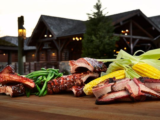 Smoked meats at Trapper's Smokehouse at Busch Gardens Williamsburg