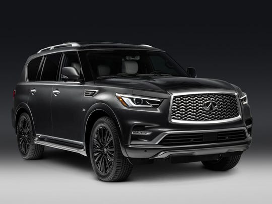 The QX80 doesn't feel as large inside as its boxy exterior