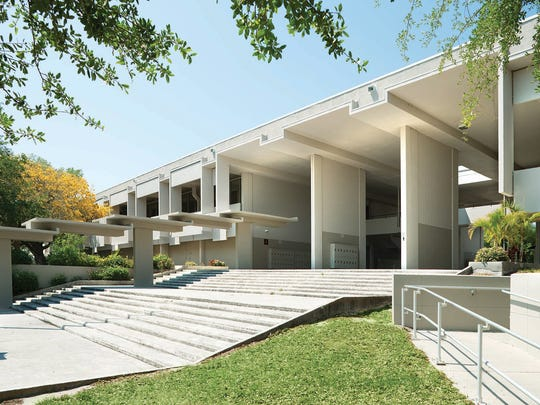 Sarasota High School addition, designed by Paul Rudolph, 1958.