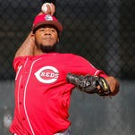 New Reds pitcher Lisalverto Bonilla is in the teams' rotation competition