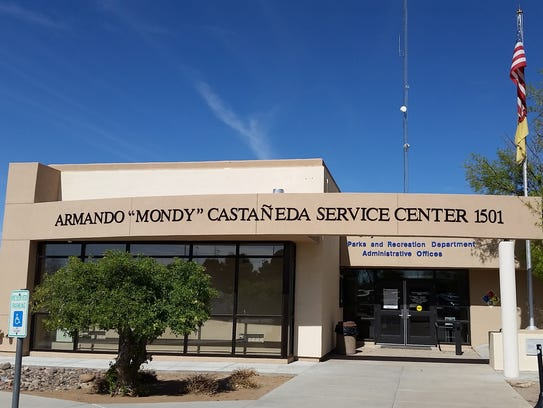 "The Armando ""Mondy"" Castaneda Service Center is seen"