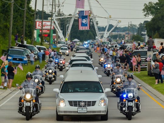 Hundreds of Law Enforcement Officers from around the