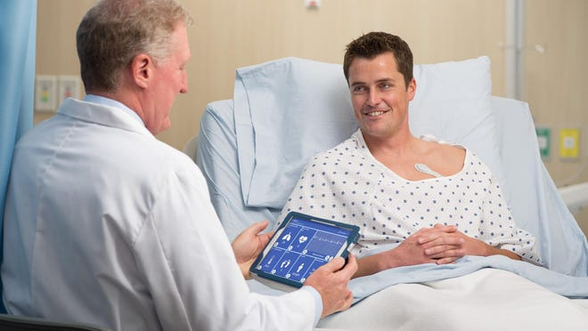 Vista Solution, a patient monitoring technology developed by San Jose, Calif.-based VitalConnect allows healthcare providers to track patients' vital signs remotely. The system includes a wearable biosensor called a VitalPatch®.