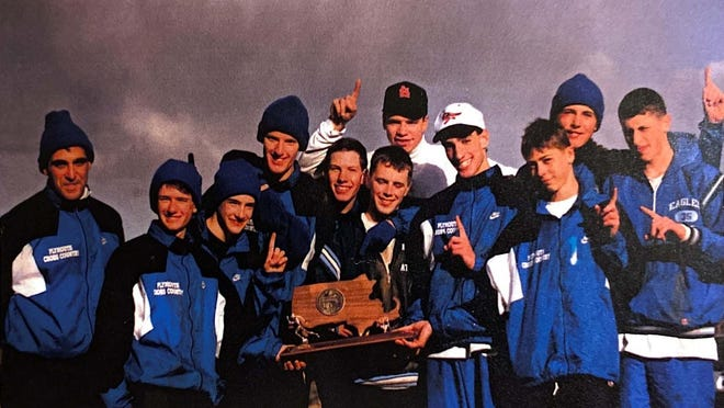 Plymouth High School's boys cross-country team won the Division 1 state title in 1993.