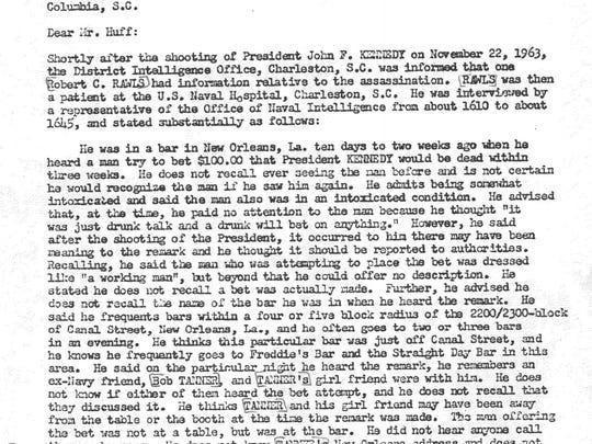 A memo from Nov. 27, 1963