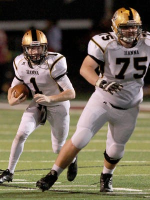 T.L. Hanna senior offensive lineman Tanner Lawson (75) announced he will be attending The Citadel next year.
