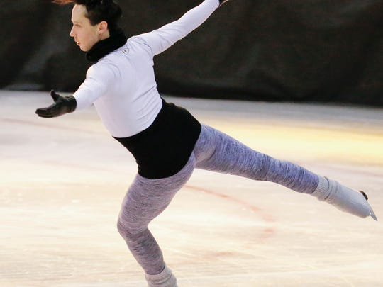 Johnny Weir rehearses for his appearance in the Skating Club of Wilmington's Spring Ice Show.