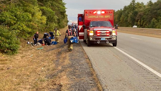 Two motorcyclists suffered life-threatening injuries following a crash on Route 140 north, just before Myricks, on Sunday afternoon.
