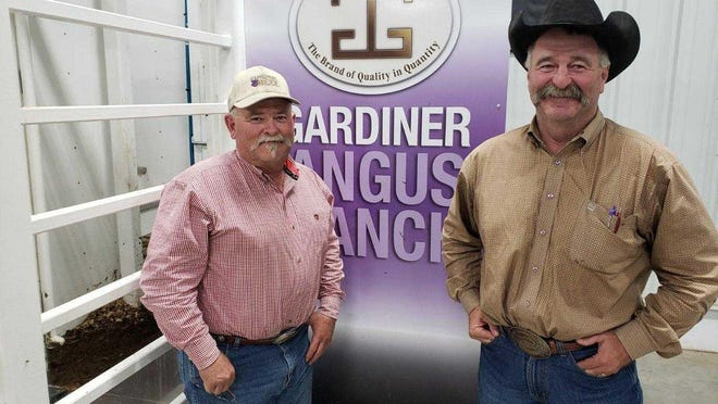 Mark Gardiner, right, of Gardiner Angus Ranch near Ashland in southwest Kansas, says the Western Association of Fish and Wildlife Agencies was responsible for financial and administrative mismanagement of lesser prairie chicken habitat program.