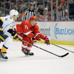 The Red Wings defeated the Predators in a comeback 5-4 overtime victory earlier this month.