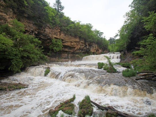 Visitors to Willow River State Park can get an up-close