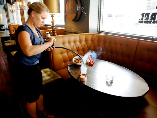 Brittany Pyles, the bar manager for The Butcher and