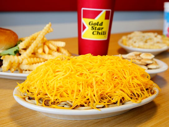The 3-way, and double cheeseburger by Gold Star Chili.