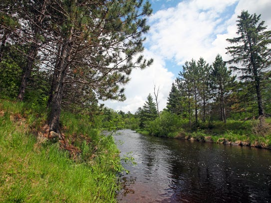 The Namekagon River is part of the St. Croix National