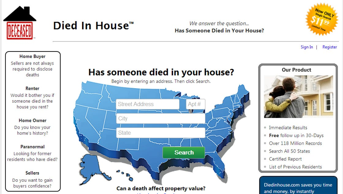 Want To Know Who Died In Your Home Check This Site