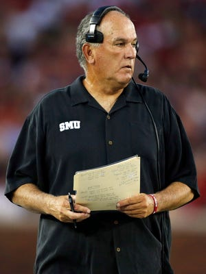 June Jones took over at SMU for the 2008 season.