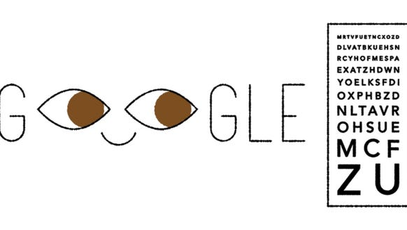 A Google Doodle honoring Ferdinand Monoyer.