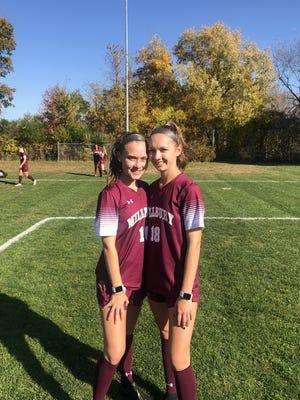 Millbury High School student-athletes and twin sisters, Kelsey, left, and Kayla Turner